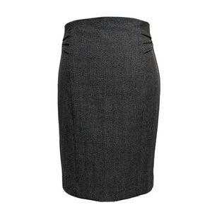 EUC Express Tweed Knee Length Pencil Skirt Pleated